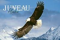 Juneau, Alaska–Eagle Soaring 24 x 36 Signed Art Print LANT-85153-710