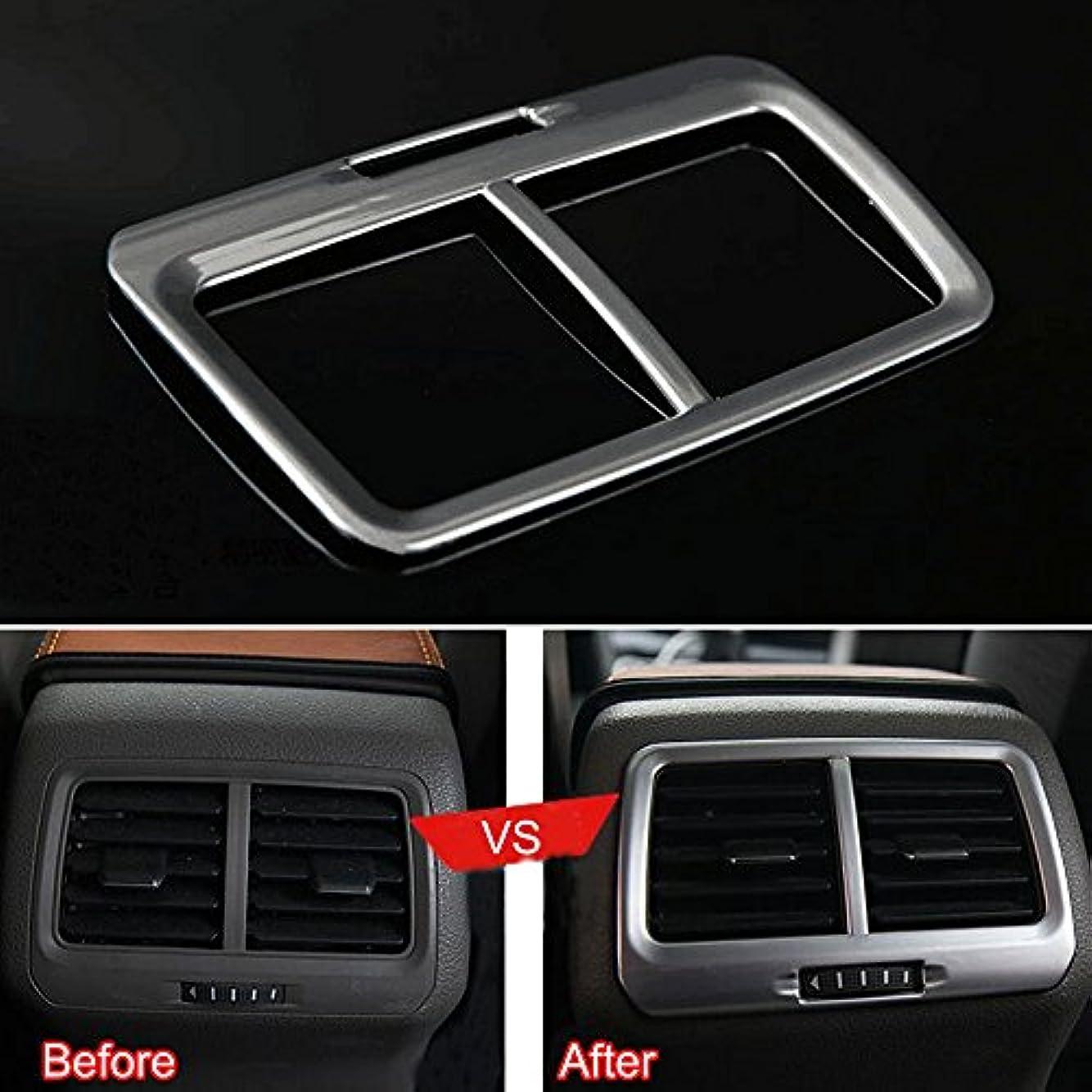 ソファー電圧有限Jicorzo - Silver A/C Outlet Vent Frame Cover Trim ABS Interior Car Styling Fit for VW Golf 7 MK7 2014 2015