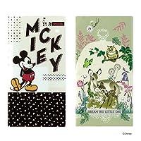 Disney(ディズニー) 抗菌マスクケース 3ポケット 2枚セット (ミッキーロゴ×バンビ草花)