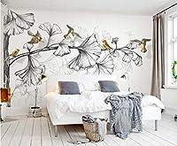 Minyose 壁紙 カスタム3D壁画壁紙油絵フラミンゴ壁紙用リビングルーム3D壁紙家の装飾