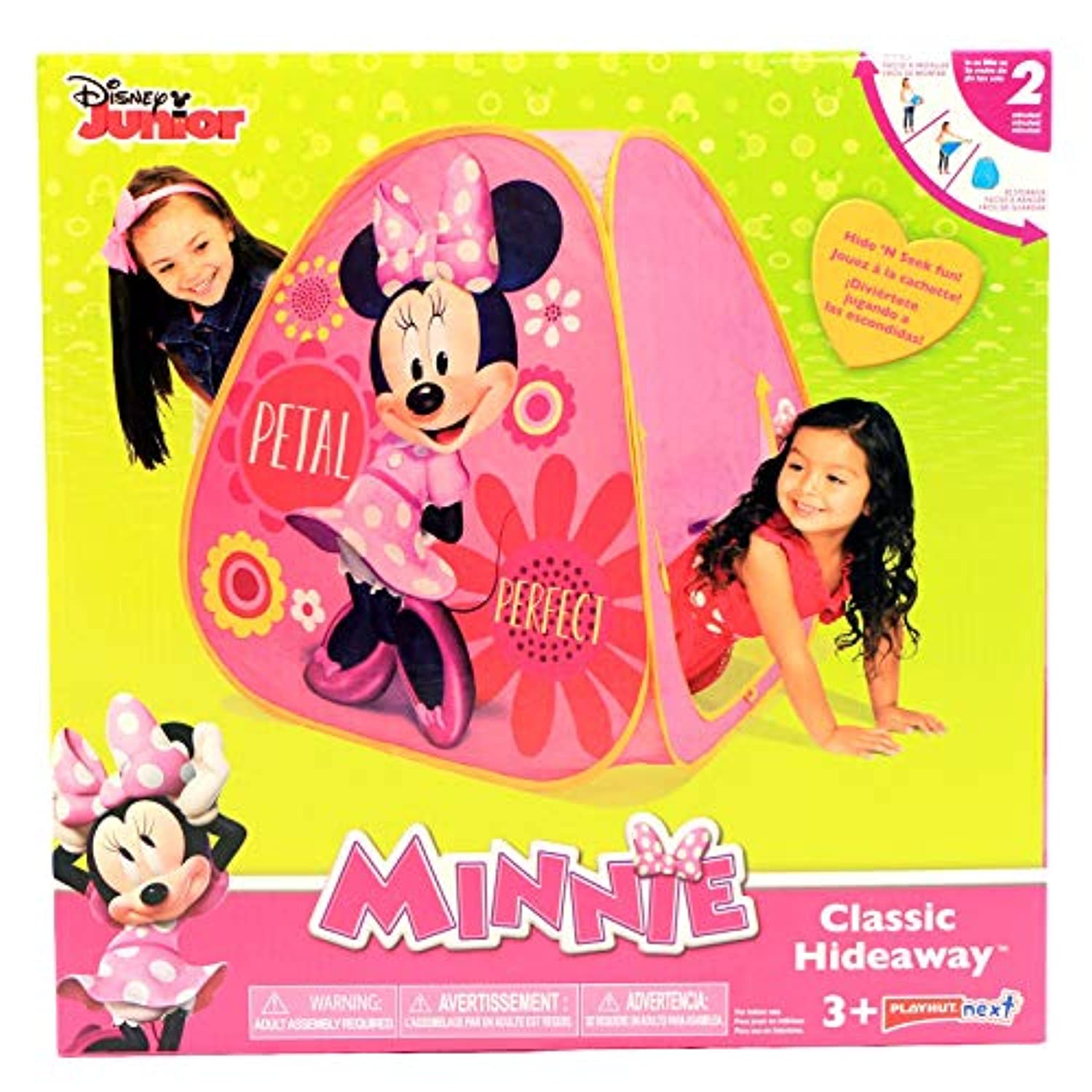 Disney Minnie Mouse Classic Playhut HideawayテントインドアPretend Play – ピンク