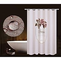 浴室のシャワーのカーテン世帯のシャワーのカーテンの自由なパンチの浴室のカーテンの仕切りのカーテンの防水のべと病の浴室のカーテンの掛かるカーテン180cmのワイド幅200cmの高いカーテン+リング