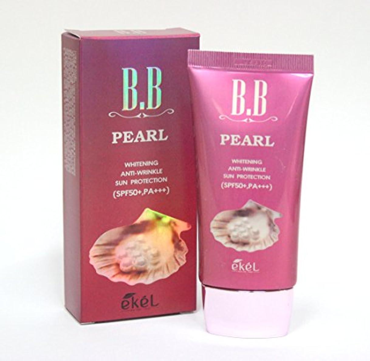 欠如変成器屋内[Ekel] パールBBクリーム50ml / Pearl BB Cream 50ml / ホワイトニング、アンチリンクル、日焼け防止SPF50 + PA +++ / Whitening, Anti-wrinkle, Sun...
