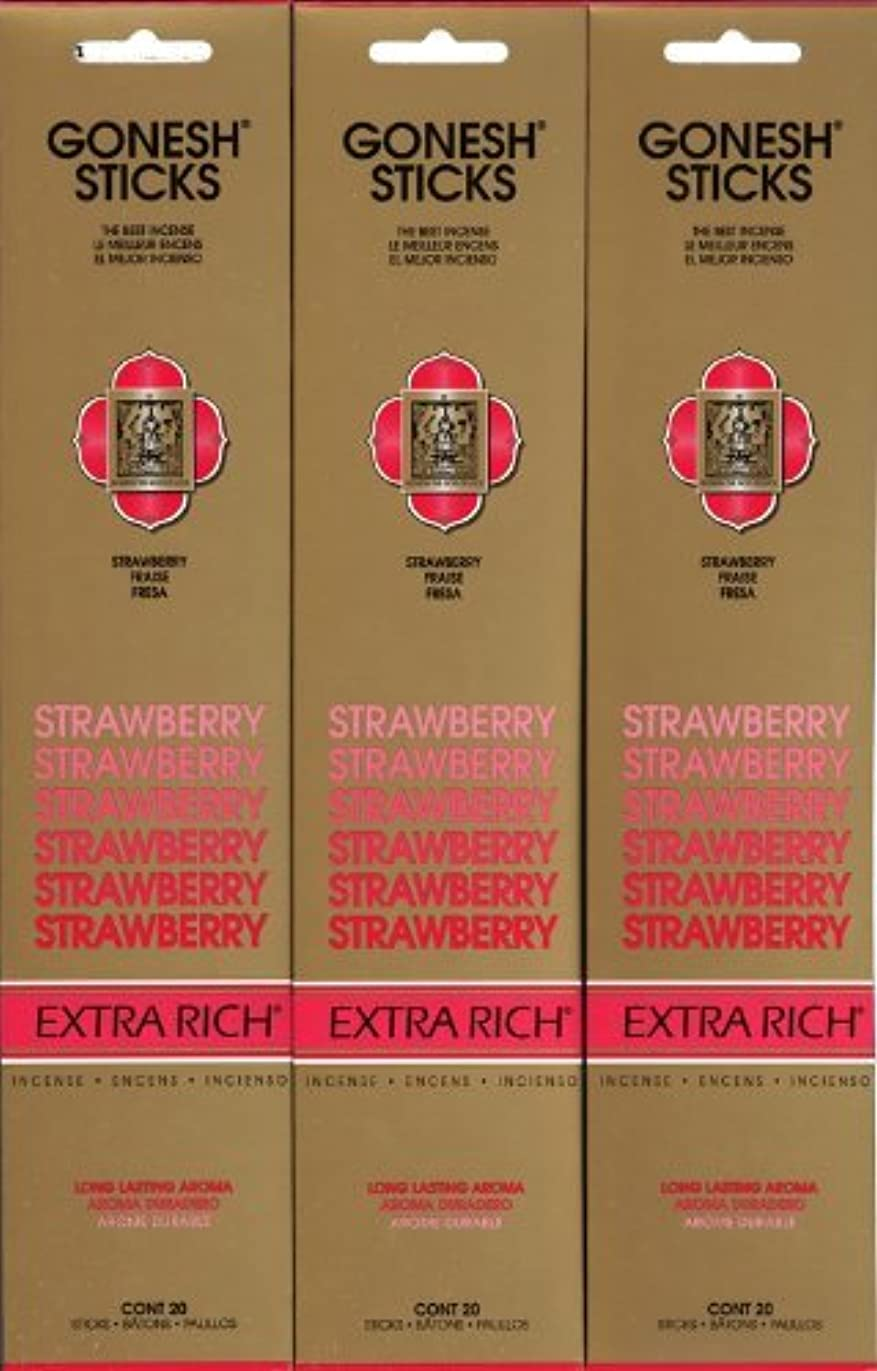 主張するインストラクターヒュームGONESH STRAWBERRY ストロベリー スティック 20本入り X 3パック (60本)