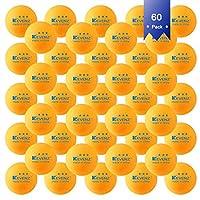 KEVENZ卓球 ボール 60個入り 3スター 練習用 トレーニングボール プレミアム ピンポンボール トレ球 オレンジ 40 mm