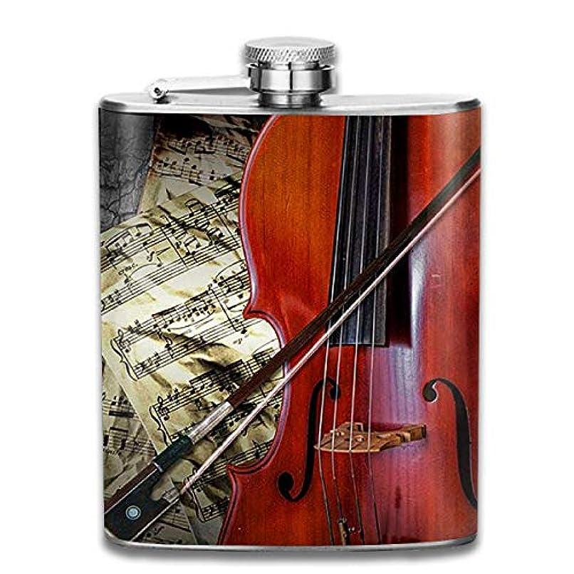 強大な政令ルーブルームン 酒器 酒瓶 お酒 フラスコ 赤いバイオリン ボトル 携帯用 フラゴン ワインポット 7oz 200ml ステンレス製 メンズ U型