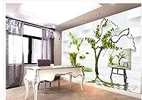 Wapel 部屋にもアートの絵画の野菜のモダンなリビングルームの壁紙ホームデコレーションリビングの壁紙 絹の布 400x280CM