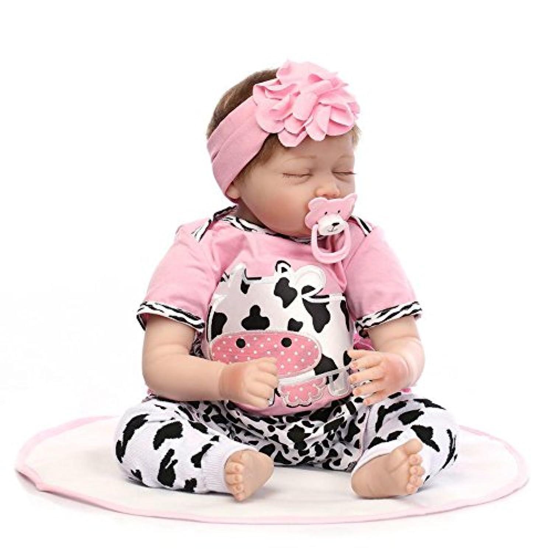 Rebornベビー人形Sleepingソフトビニール新生児マグネット口22インチ人形Lifelike子供誕生日ギフト