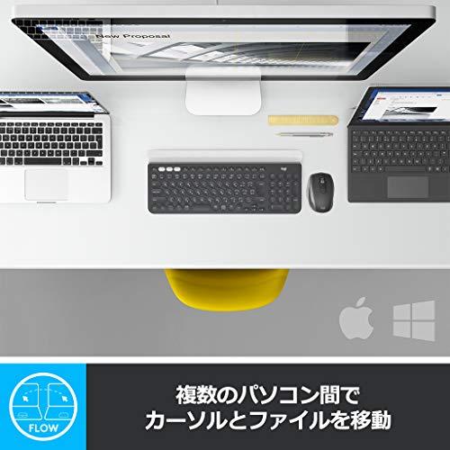 『ロジクール ワイヤレスマウス 無線 マウス ANYWHERE 2S MX1600sGR Unifying Bluetooth 高速充電式 FLOW対応 7ボタン windows mac iPad OS 対応 MX1600s グラファイト 国内正規品 2年間無償保証』の9枚目の画像