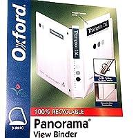 """オックスフォード3""""パノラマ表示バインダー–ブラックorホワイト–Holds 650シート"""