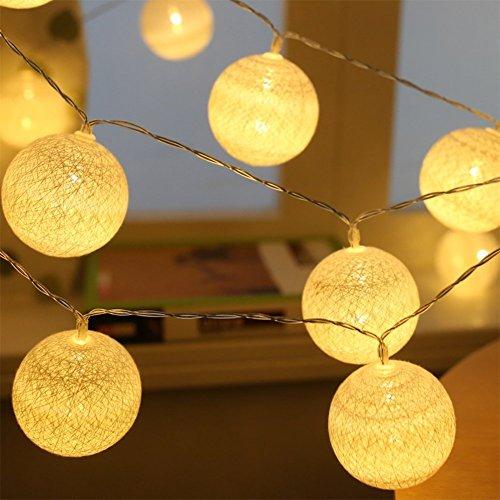 Arisen クリスマス イルミネーション ボール バブル LEDライト 藤球 電池式 3.3M 20球 クリアコード ガーデン 新年 飾り付け(電球色)