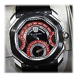 [ブルガリ]BVLGARI ジェラルド・ジェンタ オクト クロノグラフ クアドリレトロ 自動巻 メンズ腕時計 世界50本限定モデル SS ブラック×レッド KK [中古]