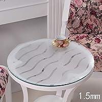 JJD テーブルクロスクリスタルプレートでPVCテーブルクロス防水柔らかいガラステーブル( (サイズ : 90*90cm)