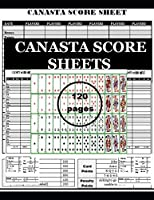 """Canasta Score Sheets: Game Record Keeper Notebook Size:8.5"""" x 11"""" 120 Pages"""