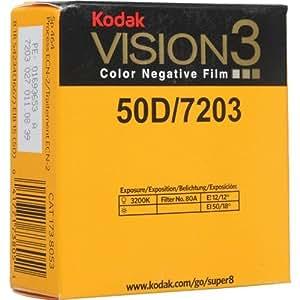 コダック カラーネガ VISION3 50D スーパー8 ムービーフィルム 7203 50フィート