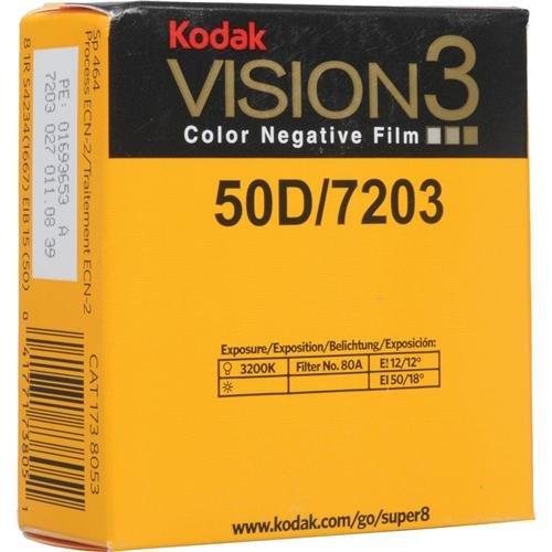 コダック スーパー8 カラーネガ VISION3 50D 7203/50フィート カートリッジ