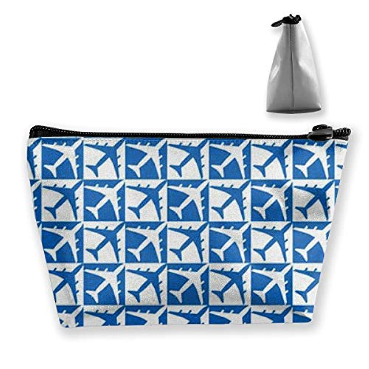 ハントウミウシ不従順飛行機 化粧ポーチ メイクポーチ ミニ 財布 機能的 大容量 ポータブル 収納 小物入れ 普段使い 出張 旅行 ビーチサイド旅行