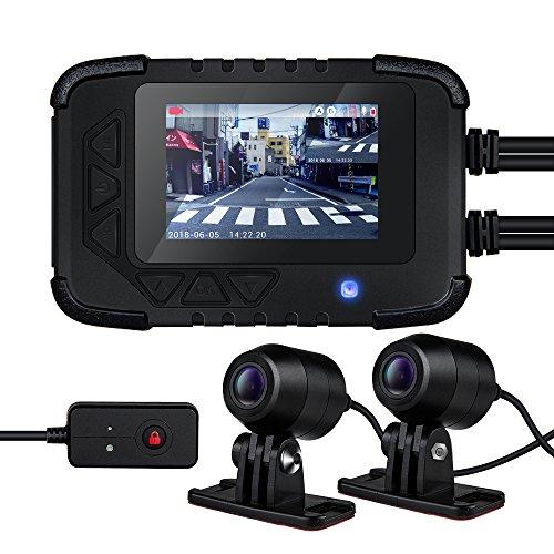 Blueskysea DV688 バイク用 前後2カメラ ドライブレコーダー 2.35インチ 200万画素 1080P 防水 常時録画 ループ録画 Gセンサー 130°広角 日本全国LED信号機対応 128GB SDカード対応 日本語説明書付(最新版)