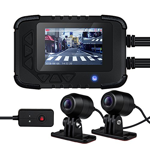DV688 バイク用 前後2カメラ ドライブレコーダー 2.35インチ 200万画素 1080P 防水 常時録画 ループ録画 Gセンサー 130°広角 128GB SDカード対応 日本語説明書付