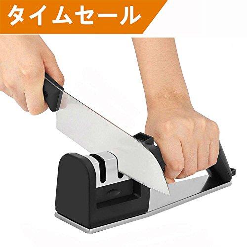 HOCILY 包丁研ぎ器 二段階研ぎ 粗研ぎ/細研ぎ 5秒で急速に研ぐ 切れ味向上 シャープナー 改良版