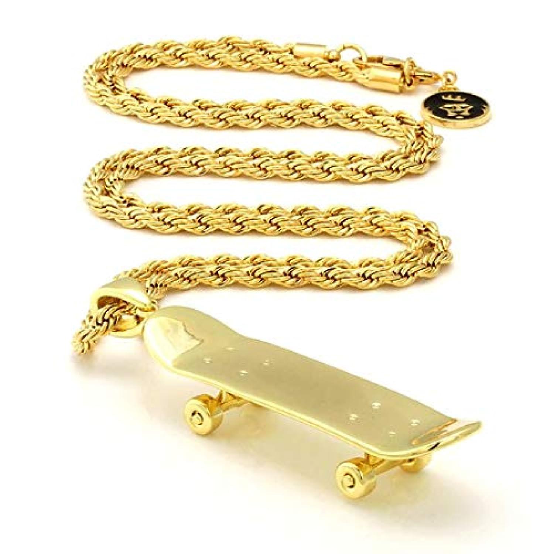 KING ICE キングアイス ネックレス ゴールドチェーン スケートボード 14金メッキ O/S GOLD