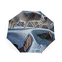 晴雨両用 折りたたみ傘 ワンタッチ自動開閉 8本骨 紫外線遮蔽率100% UVAカット ポリエステル 丈夫 大型 軽量 28センチ