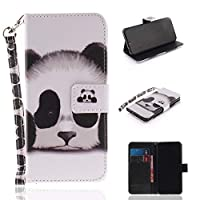 Happon Huawei Honor 10 Wallet Leather Case with Protective Durable スタンド Shell Folio flip Cell Phone Cover Bag with Card Slots,Cash Pocket,Panda