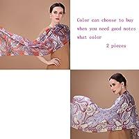 GAOLILI メッシュショールショールファッション新しいシルクシルクスカーフ (色 : F f)