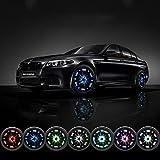 Mercury 車 外装パーツ ホイール LED ソーラー パネル 発電 ライト 4個セット
