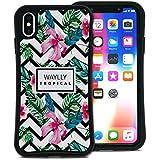 WAYLLY(ウェイリー) iPhone XS Max ケース アイフォンXS MAXケース くっつくケース 着せ替え 耐衝撃 米軍MIL規格 [トロピカル ハイビスカス] MK