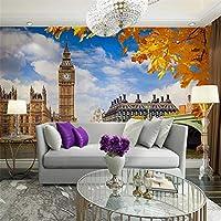 Ljjlm ホームバーの装飾壁紙論文現代の3Dビーチウィンドウ写真の壁紙壁画のリビングルームの寝室の自己接着ビニールの壁紙-120X100CM