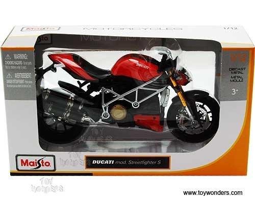 おもちゃ 31197 Maisto マイスト - Ducati ドゥカティ Mod. Streetfighter S Motorcycle (1:12, Red) 31197 Diecast ダイキャスト Car Model Auto Vehicle Automobile Metal Iron Toy レプリカ ミニチュア ミニカー 模型 車 飛行機 [並行輸入品]