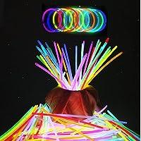 BPOLER ビーポーラ 蛍光ブレスレット10色50本 光る サイリウム
