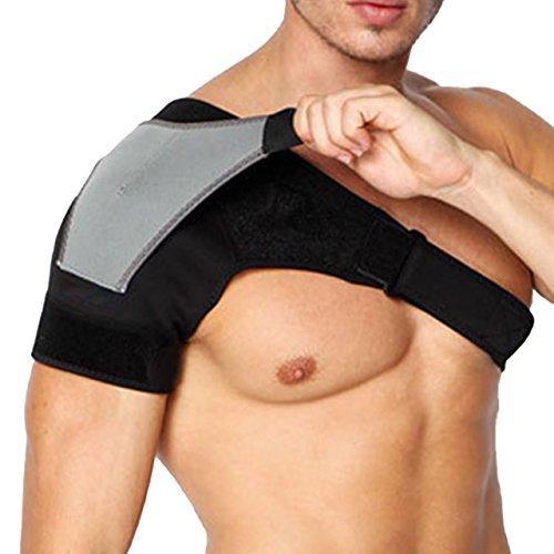 (アクアランド) (アクアランド) AQUALAND 肩 サポーター 肩痛 補助ベルト付き ショルダー 二重設計 簡単装着 圧迫 スポーツ 肩関節 肩の痛み 冷え 肩サポーター 肩コリ ストレッチ 安定 男女兼用 (右肩用)