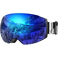 OutdoorMaster スキーゴーグルPRO - フレームなし、100%UV400保護スノーゴーグル男性用&女性用