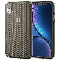 エレコム iPhone XR ケース 衝撃に強いTPU素材 ダイヤモンドカット 【上品なカットラインで、iPhoneが輝く】 ブラック PM-A18CUCJBK