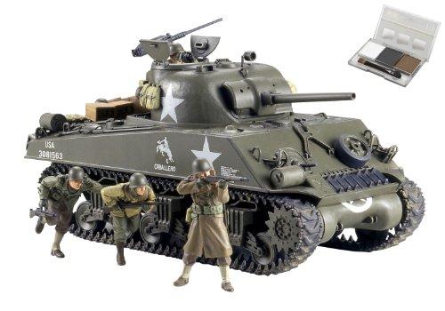 スケール限定シリーズ 1/35 アメリカ M4A3 シャーマン 75mm砲搭載・後期型 (前線突破) (ウェザリングマスター付き) 25127