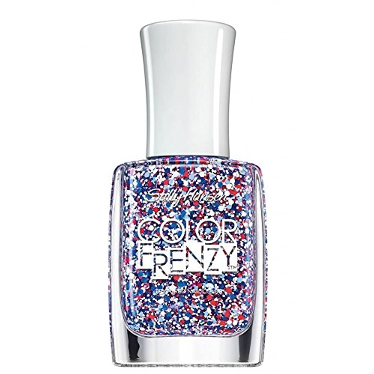 あたり睡眠パーフェルビッドSALLY HANSEN Color Frenzy Textured Nail Color Red White & Hue (並行輸入品)