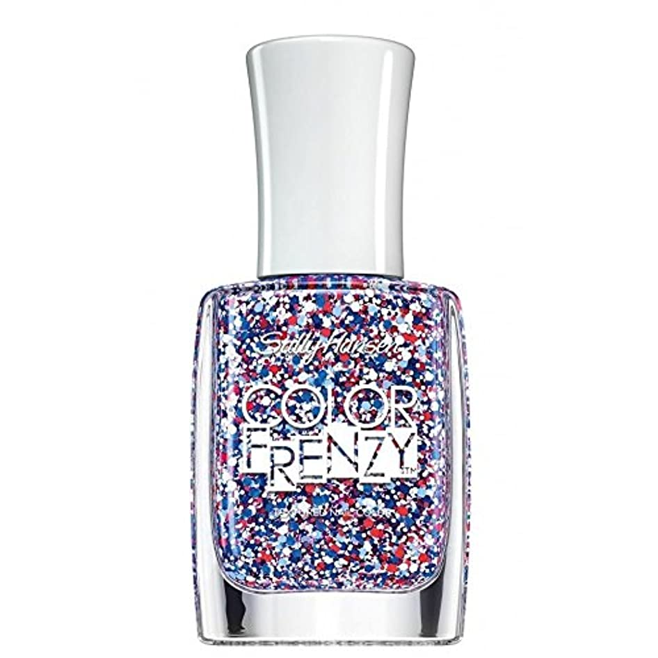 報復トリクル宇宙船SALLY HANSEN Color Frenzy Textured Nail Color Red White & Hue (並行輸入品)