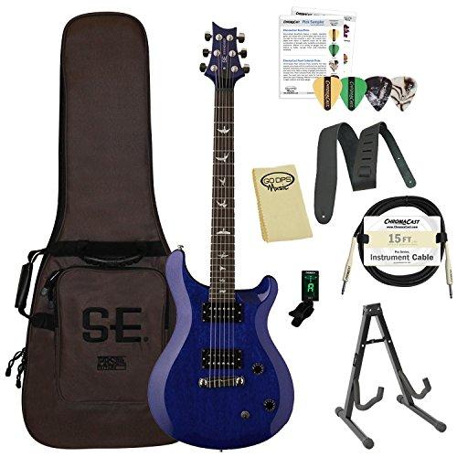 Paul Reed Smith ポールリードスミス Guitars ST22TB-Kit01 PRS SE スタンダード 22 Translucent Blue エレキギター with ギグバッグ ギターケース & Accessories エレキギター エレクトリックギター (並行輸入)