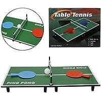 ChoneミニインドアTabletopテニスゲーム、木製& ABS Ping Pongボードゲームセット、Kids & Family Xmasパーティーギフト