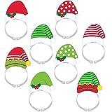 Amscan 398910 Santa & Elf Headband Pack