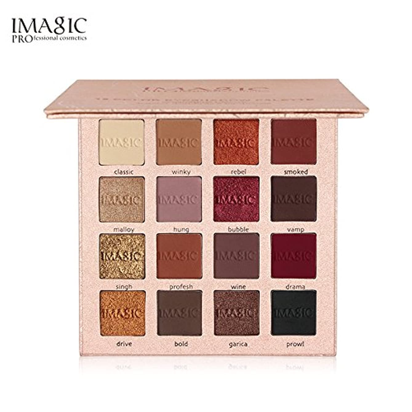 不一致楽観帳面IMAGIC New Arrival Charming Eyeshadow 16 Color Palette Make up Palette Matte Shimmer Pigmented Eye Shadow Powder