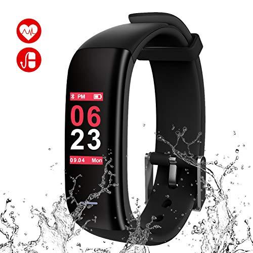 6802ded02b MINLUK 最新版 スマートウオッチ 血圧計 心拍計 スマートブレスレット iphone&Android対応 歩数計 活動量計 消費カロリー 睡眠検測  アクティブトラッカー カラ.