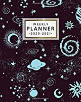 Weekly Planner 2020-2021: Awesome Planets 2 Year Monthly Weekly Daily Organizer & Planner   Pretty Spiral Galaxy Two Year Schedule Agenda, To-Do's, Holidays & Inspirational Quotes, Vision Boards & Notes