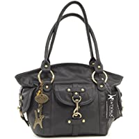Catwalk Collection Handbags - Women's Leather Top Handle/Shoulder Bag - KARLIE
