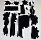 KINMEI(キンメイ) ホンダ FITアームレスト付車専用 白 GK3・4・5・6/GP5系 インテリア ドアポケットマット ドリンクホルダー 滑り止め ノンスリップ 収納スペース保護 ゴムマット フィット新車fit-h-w