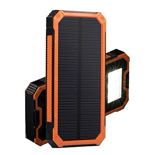 DKnight 15,000mAh 2ポート 超大容量モバイルバッテリー ソーラーパネル