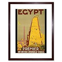 Travel Tourism Egypt Obelisk Temple Statue New Framed Wall Art Print 旅行観光エジプト寺院像壁