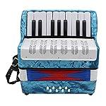 B Blesiya 鍵盤アコーディオン 手風琴 鍵盤楽器 全4色 - ライトブルー